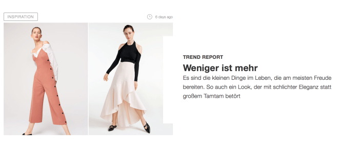Online Fashion Magazin EDITORIAL